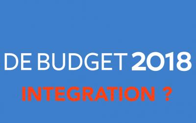 Intégration : le parent pauvre du Budget de l'État 2018 !
