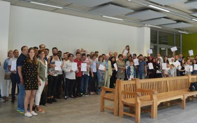 134 apprenants réfugiés ont reçu un certificat de participation  aux cours de langues de l'ASTI