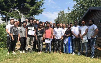 Remise de certificat aux participants du projet « Connections4work »