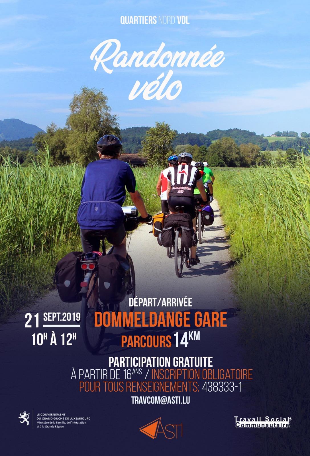 Randonnée à vélo @ Gare de Dommeldange