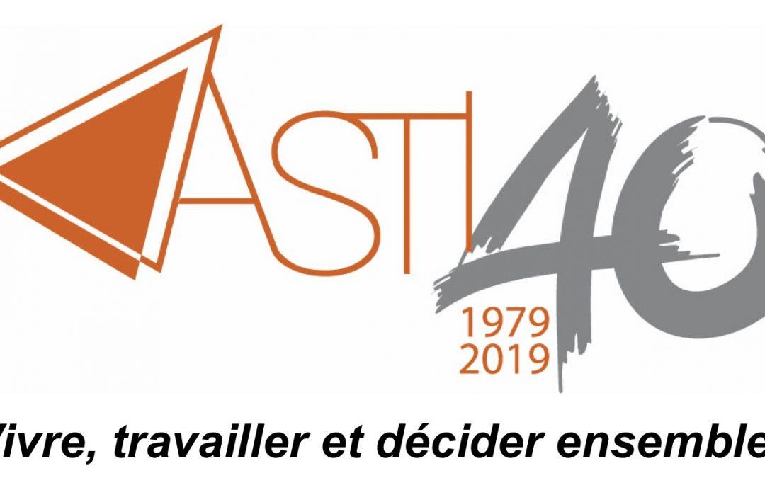 ASTI: 40 ans au service d'une société ouverte et solidaire