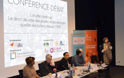 Droit de vote, la lutte continue – Suites de la conférence-débat