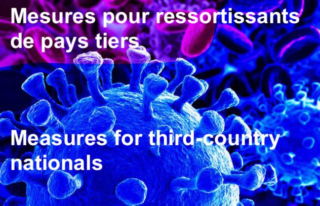 COVID-19: Mesures pour ressortissants de pays tiers / measures for third-country nationals