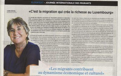«C'est la migration qui crée la richesse au Luxembourg» – Journal