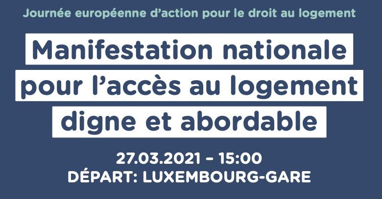 Manifestation nationale pour l'accès au logement digne et abordable